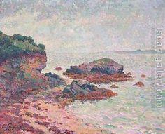 Émile SCHUFFENECKER (Claude-Émile Schuffenecker) Côte rocheuse en Bretagne (France, 1851-1934)