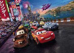 Fototapeta na ścianę - Samochody, wyścig Disney'a 254x183 cm - Dekoracje do domu DecoArt24.pl