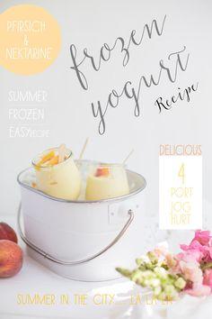 Super Sommerrezept: Frozen Yogurt mit Pfirsichen und Nektarinen.