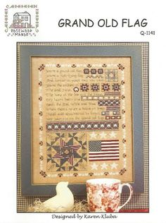 ROSEWOOD MANOR Grand Old Flag Cross Stitch by NeedleCaseGoodies
