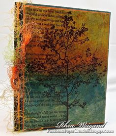 Hi, Rhea here again, and today I am bringing you another tutorial with Stampendous. we are going to use Tree Poem and Adirondack Alcohol Inks to make your background paper. The Tree Poem sta… Card Making Inspiration, Making Ideas, Tree Poem, Just Dream, Alcohol Ink Art, Paper Cards, Diy Cards, Handmade Cards, Button Art