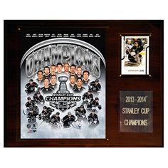 C and I Collectables NHL 15W x 12H in. Los Angeles Kings 2013-2014 Stanley Cup Champions Plaque - 1215SC14