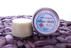 My After-Shift Vanilla Lotion Bar is designed with healthcare professionals in mind. All that hand-washing leaves hands chapped and dry. This recipe will sooth and soften with only a couple applications a day - best used right after a shift and before bed. It comes in a portable 1.7oz tin