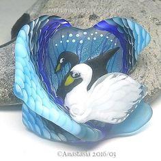 ANASTASIA-handmade-lampwork-bead-1-focal-SWAN-LAKE-SRA http://www.ebay.com/itm/262327546923?ssPageName=STRK:MESELX:IT&_trksid=p3984.m1555.l2649