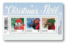 timbres de Noël 2015 de la série des Animaux de Noël