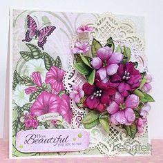 Wonderful Petunia Bouquet made w/ Art Foam paper from #HeartfeltCreations