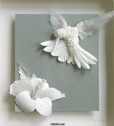 Beautiful and exquisite paper bird with flower..wow.