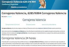 Cerrajeros valencia. Tlf. 628.576.904 Empresa de cerrajeros en valencia 24 horas urgente. http://www.cerrajerosvalencia628576904.com.es