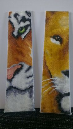 Cross stitched bookmarks. (no pattern)
