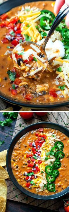 Lentil Tortilla Soup Vegetarian Lentil Tortilla Soup can be made in a pressure cooker, slow cooker, or on the stove - game on!Vegetarian Lentil Tortilla Soup can be made in a pressure cooker, slow cooker, or on the stove - game on! Slow Cooker Recipes, Cooking Recipes, Vegetarian Cooking, Vegetarian Soups, Going Vegetarian, Slow Cooking, Easy Cooking, Vegitarian Crockpot Recipes, Vegetarian Meals Crockpot