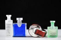 150: Set of four miniature Bulgari perfume bottles. Ful
