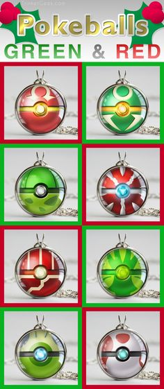 It's almost Christmas, so here's some green and red pokeballs to get you in the…