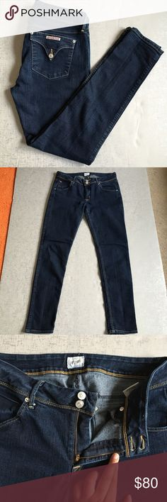 """Hudson Collin Midrise Skinny Jean Hudson collin midrise skinny jeans. Approximate measurements are inseam 30.5"""", front rise 9.5"""", back rise 15.5"""", back rise 35"""". These have stretch. Worn only a handful of times. EUC, no stains or rips. Hudson Jeans Jeans Skinny"""