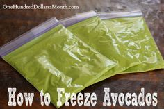 How to Freeze Avocados     http://www.onehundreddollarsamonth.com/how-to-freeze-avocados/