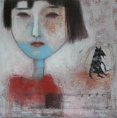 Anne Patay red.  black wolf