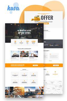 Mailer Design, Ux Design, Design Templates, Psd Templates, Construction Website, Company Profile Design, Engineering Companies, Ui Design Inspiration, Website Layout