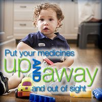 Over 60,000 children are poisoned by medicines each year. Store in locked cabinets and keep purses out of reach.