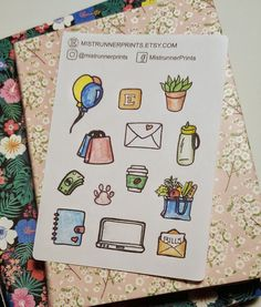 Stylish and Elegant Planner Stickers by MistrunnerPrints Mini Hands, Weekly Planner, Planner Stickers, How To Draw Hands, Etsy Seller, Things To Come, Kit, Creative, Icons
