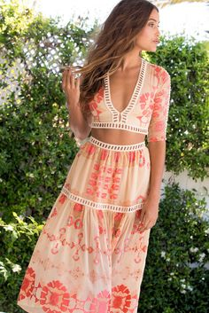 For Love & Lemons: Barcelona crop and midi skirt in cream | Soleil Blue....perfect  vacay dress!