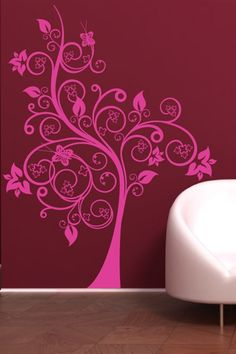 Arbor Magic Wall Decals will bring your room to life!  The decorative tree design has bursts of bold flowers and swirling branches. Reverse the orientation if you prefer the wall decal to face the opposite direction and choose one of 34 colors and 5 sizes to add that magic touch to your decor.