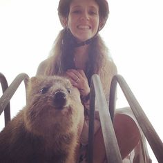 "Today was a magical day! I turned 30 got to spend the day biking on a beautiful island with my amazing husband and got a ""selfie"" with a quokka. I couldn't have asked for a better way to celebrate. #lifeisanadventure #texansabroad #perth #rottnestisland #quokka #quokkaselfie #magical #birthday #30thbirthday #happy #thankful by nellspring http://ift.tt/1L5GqLp"