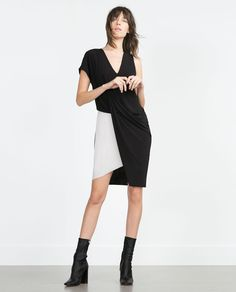 DRAPED DRESS-View all-Dresses-WOMAN | ZARA United States
