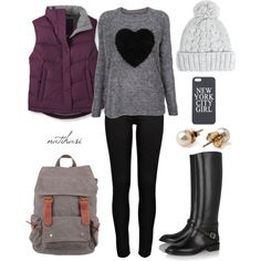 """Fall Winter School Outfit"" by natihasi on Polyvore"