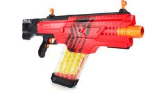 Nerf& Fall Lineup Includes a Fully Automatic Version of its 70 MPH Rival Blaster All Nerf Guns, Newest Nerf Guns, Nerf Gun Attachments, Arma Nerf, Pistola Nerf, Nerf Games, Lawn Games, Fall Lineup, Steampunk Gun