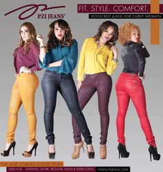 PZI Jeans, Creator of Jeans for Curvy Women Unveils the Luxe Curves Collection Fall/Holiday 2012