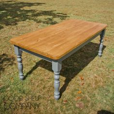 """Pictured: New White and Downpipe grey    Classic Farmhouse Table   Traditional, timeless farmhouse table; solid pine throughout, moulded edge, 11/4"""" thick top and turned Victorian style legs.    The 4″ legs are secured using double bolt fixings to ensure rigidity with the option of removal for ease of delivery (or collection, these tables will fit into most larger hatchbacks or estate cars with the legs removed).    Sizes:    4′x 2'6″  4′x 3′  5′x 2'6″  5′x 3′  6′x 2'6″  6′x 3′      The..."""