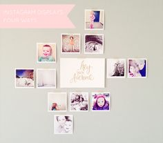 From Daffodil Design -- cute way to display Norah's instagrams from her party!