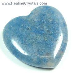 Hearts - Blue Quartz Heart- Blue Quartz - Healing Crystals
