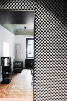 Expanded Metal Panels for Interior Decoration Designs Interior Walls, Decor Interior Design, Interior Decorating, Metal Wall Panel, Metal Panels, Ceiling Design, Wall Design, Architecture Details, Interior Architecture