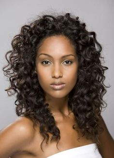 long curly wedding hair for black women