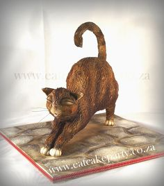 """https://flic.kr/p/fVDEuz   3D cat cake   This is my demo cake from my cat class! Had so much fun! <a href=""""http://www.eatcakeparty.co.za"""" rel=""""nofollow"""">www.eatcakeparty.co.za</a> Like us on <a href=""""http://www.facebook.com/eatcakeparty"""" rel=""""nofollow"""">facebook</a>"""