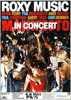 Roxy Music - Manifesto 1979 - Poster Plakat Konzertposter