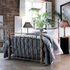 corner bed w/ a plant