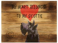 A personal favorite from my Etsy shop https://www.etsy.com/listing/237621937/scottish-terrier-art-print-scottie-dog