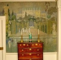 Italian-inspired Dining Room mural by George Porter Fernald - circa 1905