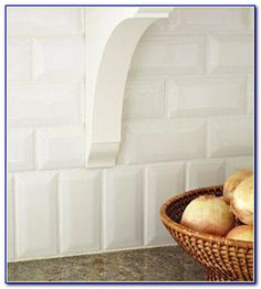 Kitchen Carrara Marble Beveled White Subway Tile Backsplash Home Design Pinterest