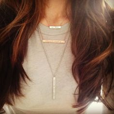 layered bar necklace - K Kane