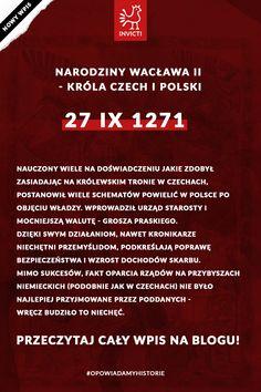 Urodzony 1 października, pochodzący ze starej czeskiej dynastii Przemyślidów był pierwszym polskim monarchą, który nie należał do rodu Piastów  #WacławDrugi #król #czechy #polska #invicti #opowiadamyhistorie
