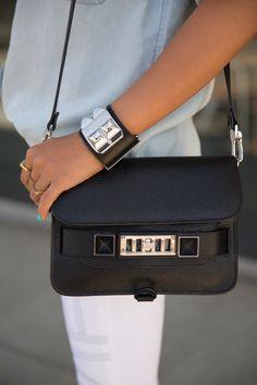 Mini $1700 proenza schouler purse | rebecca minkoff cuff