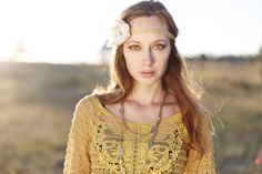 Mustard top & handmade headband by: Bonne' Bella. Available now. Perfect for fall!