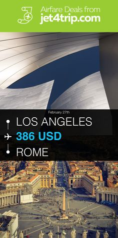 Flight from Los Angeles to Rome for $386 by American Airlines #travel #ticket #deals #flight #LAX #ROM #Los Angeles #Rome #AA #American Airlines
