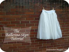 The Ballerina Skirt Tutorial - need to make this with all that sheer fabric I'm hoarding downstairs.