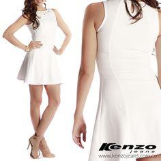 El vestido color marfil, es una pieza fundamental de un guardarropa con estilo, además de ser sofisticado es fácil de combinar. #KenzoJeans www.kenzojeans.com.co