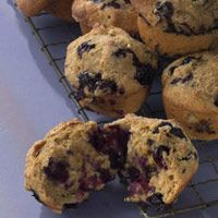 Blueberry-Maple Muffins: only 208 calories