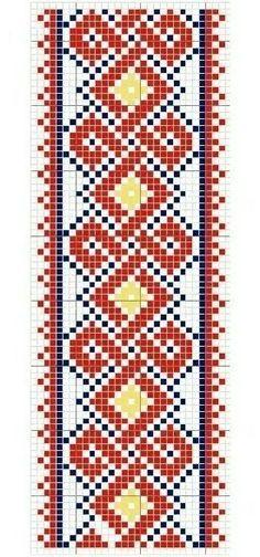 Old Russian cross stitch pattern. Folk Embroidery, Embroidery Transfers, Vintage Embroidery, Cross Stitch Embroidery, Embroidery Patterns, Russian Cross Stitch, Cross Stitch Books, Cross Stitch Charts, Cross Stitch Patterns