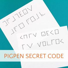 Secret code for kids. The pigpen cipher is easy to learn and more fun to write than standard number substitution codes. Even kids who don't like writing will enjoy composing secret messages Childcare Activities, Craft Activities For Kids, Games For Kids, Spy Books For Kids, Secret Code, The Secret, Spy Party, Coding For Kids, Writing Practice